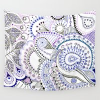 mask Wall Tapestries featuring Mask by Bunyip Designs