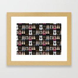 Ladies Shoes Framed Art Print