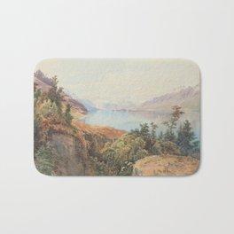 historic print on New Zealand Bath Mat