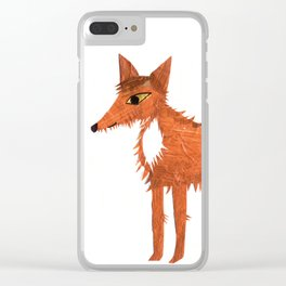 Mr Fox Clear iPhone Case