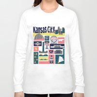 kansas Long Sleeve T-shirts featuring Kansas City by cwassmer