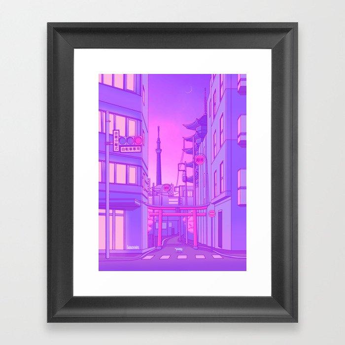 Asakusa Lights Gerahmter Kunstdruck