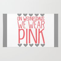 mean girls Area & Throw Rugs featuring Mean Girls by GeekCircus