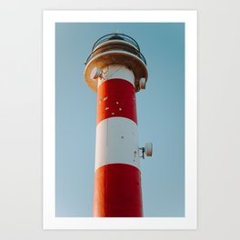 Vintage lighthouse of Spanish coast | Canary Islands | Calm, colourful and pastel fine art travel photography art print Art Print