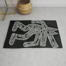 Dog inspired to Keith Haring Rug