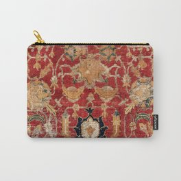 Indo Esfahan Central Persian Rug Fragment Print Carry-All Pouch