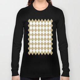 Diamonds (Sand/White) Long Sleeve T-shirt
