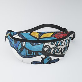 Blue Vibes Lamp post and Piano keys Fanny Pack