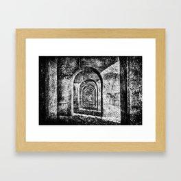 Monochrome Arches Framed Art Print