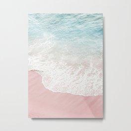 Soft Gradient Beach Metal Print