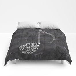 Chalkboard music note Comforters