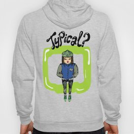 Illustration for t-shirt with girl in sneakers and college jacket Hoody