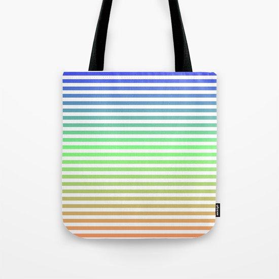 Beach Blanket Blue/Green/Orange Tote Bag