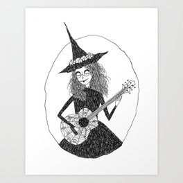 Music Witch Art Print