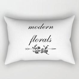 modern florals 2 . flowers . art Rectangular Pillow