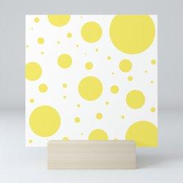 Yellow Bubbles Mini Art Print