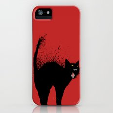 black cat iPhone (5, 5s) Slim Case