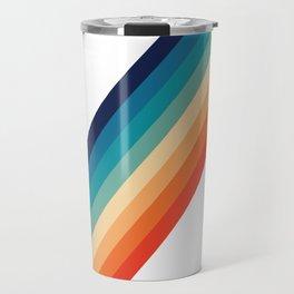 Retro 70s Stripe Colorful Rainbow Travel Mug