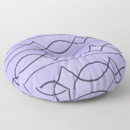 Metalwork and Lavender Floor Pillow