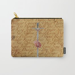Sword Piercing a Heart   Carry-All Pouch