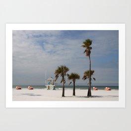 Clearwater Beach In Wintertime Art Print
