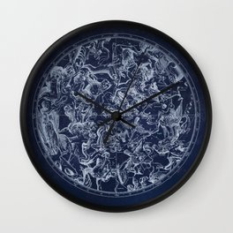 Vintage Constellations & Astrological Signs | White Wall Clock