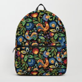 Polish Folk Roosters Backpack