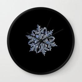Real snowflake 13 February 2017 n.3 black Wall Clock