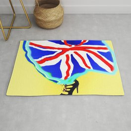 May in May (trouble in politics - Brexit) - shoes stories Rug