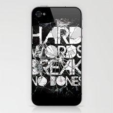 HARD WORDS iPhone & iPod Skin