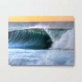 The Emerald Wave Metal Print