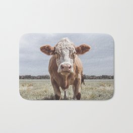 Animal Photography | Cow Portrait Photography | Farm animals Bath Mat