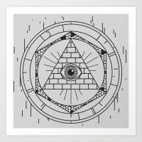 illuminati Art Prints featuring Illuminati by Joao Paulo Cruz