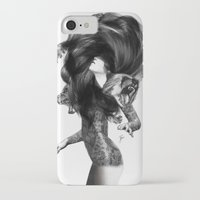 lions iPhone & iPod Cases featuring Bear #3 by Jenny Liz Rome