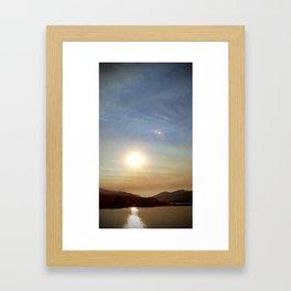 (#131) Smokey Sunset Framed Art Print