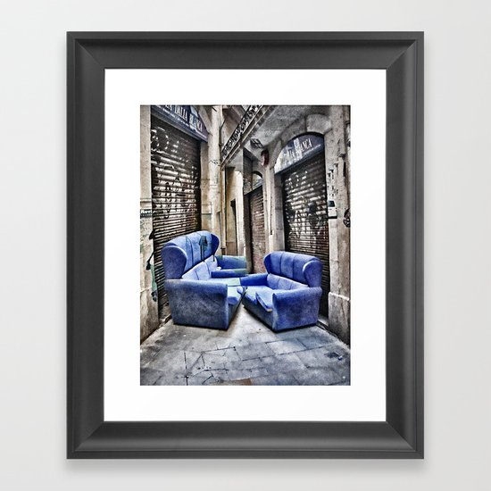 double take or leave Framed Art Print