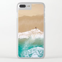 Peace to the Sea Clear iPhone Case