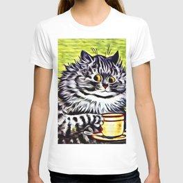 "Louis Wain's Cats ""Kitty On Coffee Break"" T-shirt"