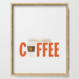 Fueled by Coffee  Serving Tray