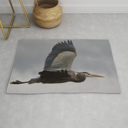 Bird series: heron in flight Rug