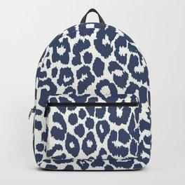 Vintage Blue Iconic Leopard Print Backpack