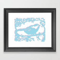 Snowy Chickadee Framed Art Print