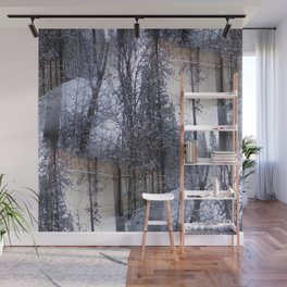 Laden with snow... Wall Mural