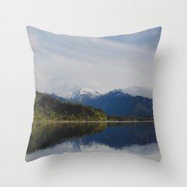 lake mapourika on the west coast Throw Pillow