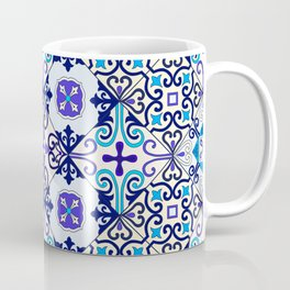 Turquoise Moroccan tile seamless pattern Coffee Mug