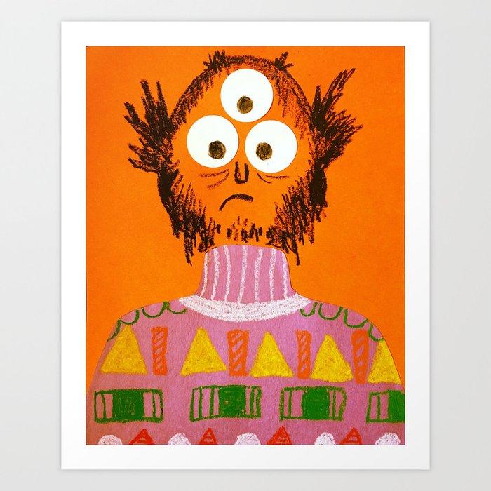 Shape Sweater Monster Art Print