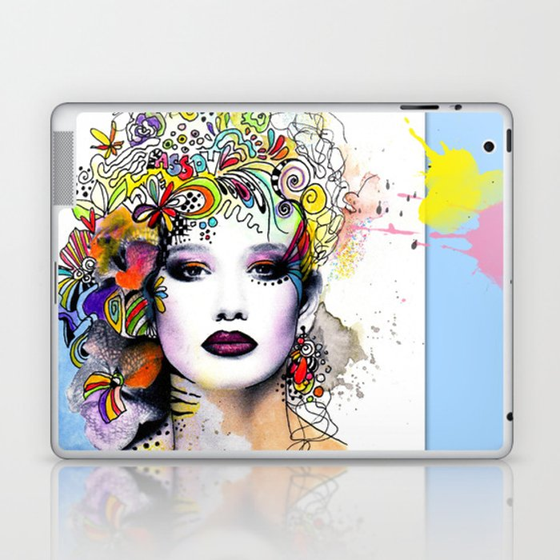 Fantasy Flower Girl Laptop & iPad Skin