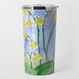 Cowslip (Primula veris) Travel Mug