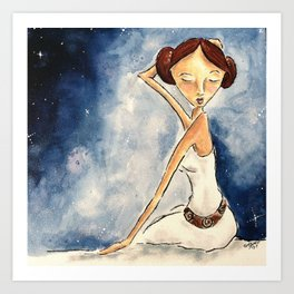 Pinup Princess Leia Art Print