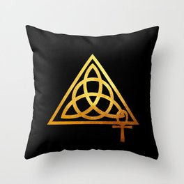 Cabot Temple Sigil Gold Throw Pillow